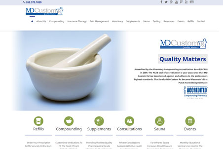 Storey Marketing Designed MdCustom Pharmacy