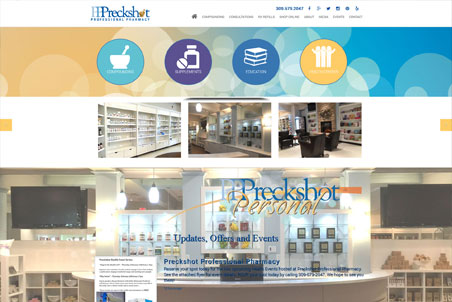 Storey Marketing Designed Preckshot Pharmacy
